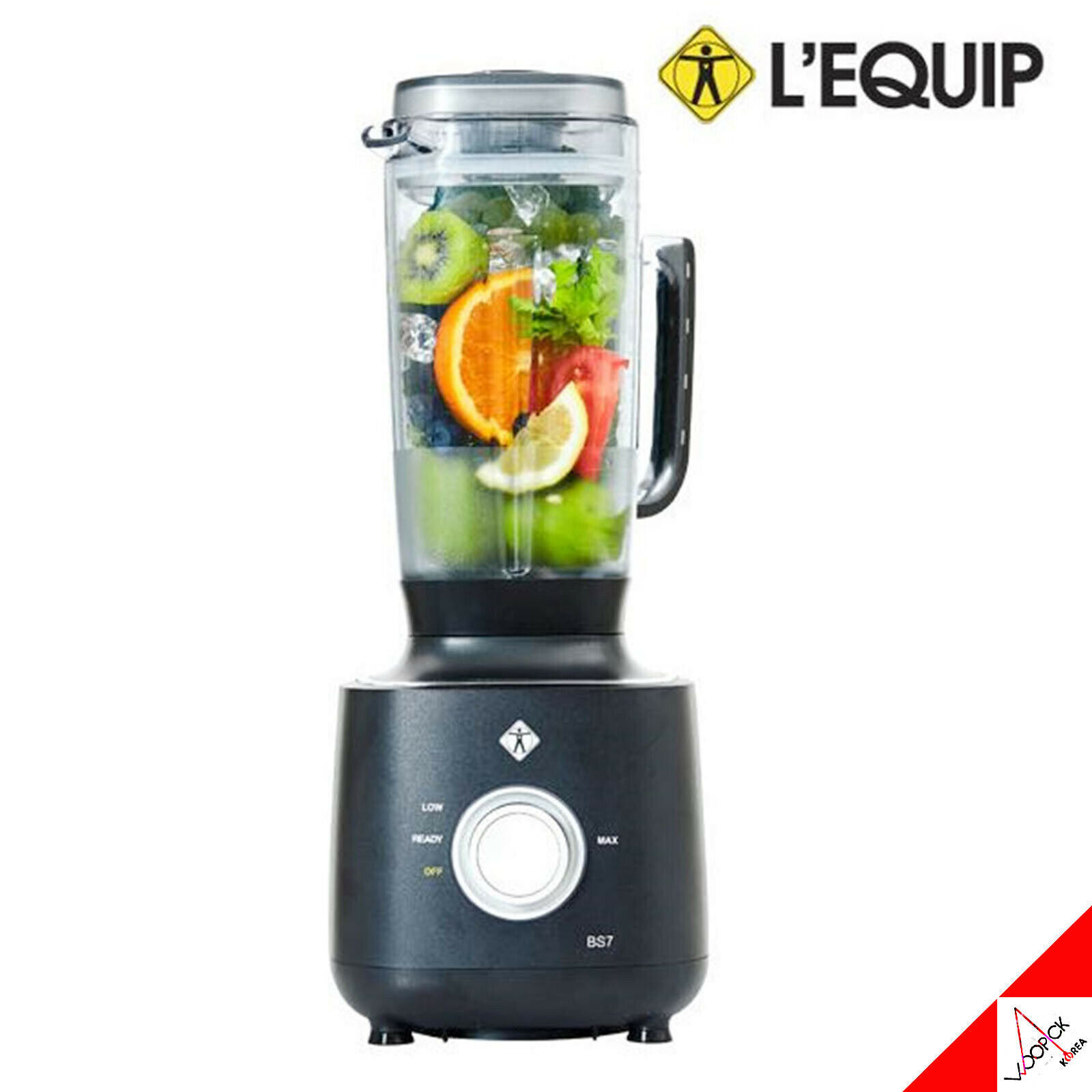 LEQUIP RPM Quattro BS7 Blender Mixeur broyeur centrifugeuse - 33000 tr min, 4.6HP, 2 L, 220 V, noir