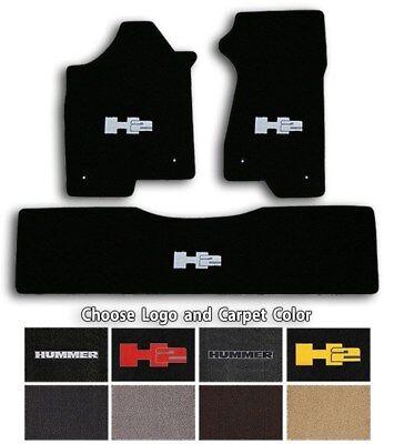 Lloyd Classic Loop 3pc Carpet Floor Mats for Hummer H2 Choose Color /& Logo