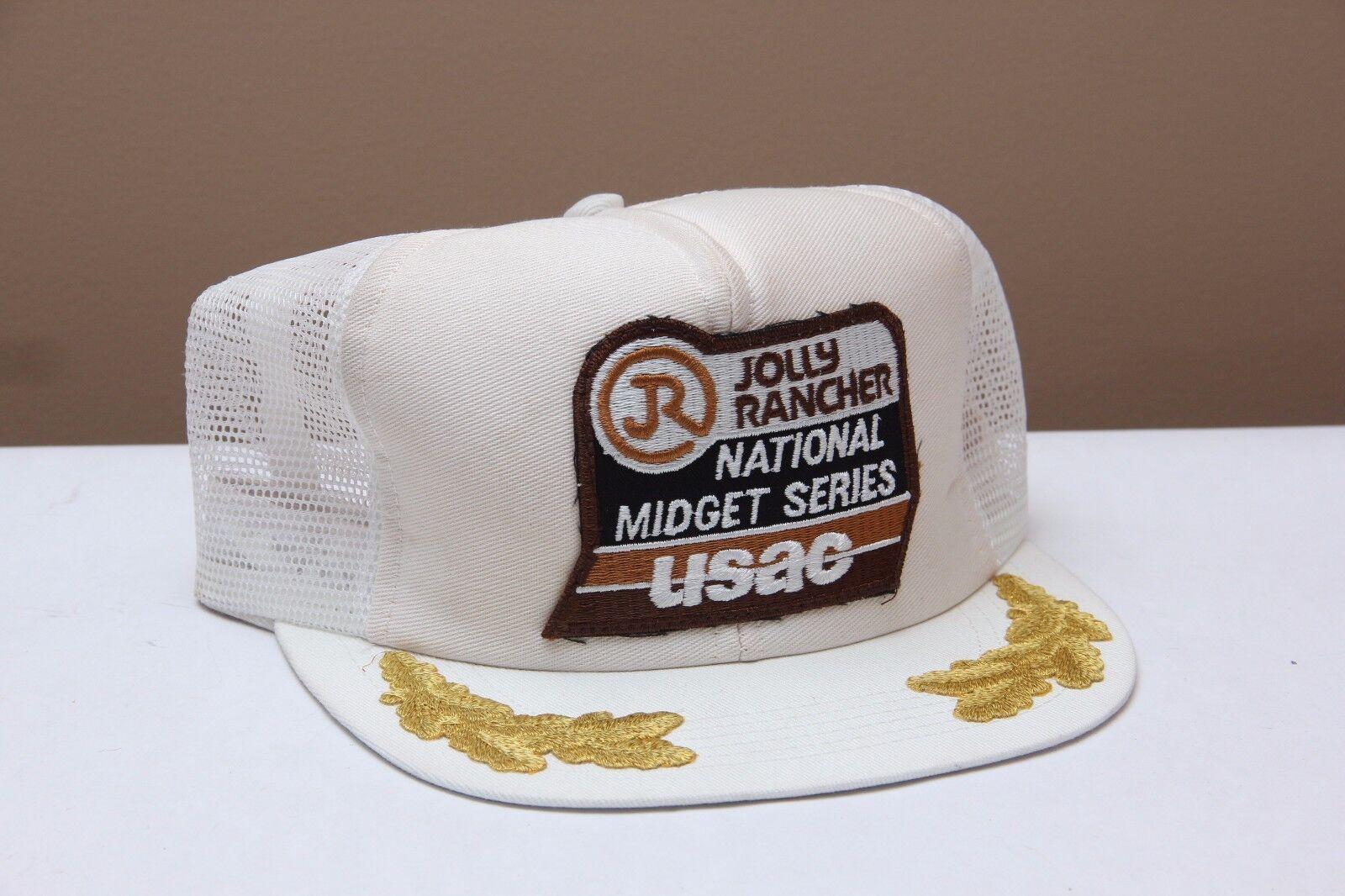 Vintage Jolly Rancher USAC National Midget Trucker Series Hat Cap Mesh Trucker Midget Snapback a30817