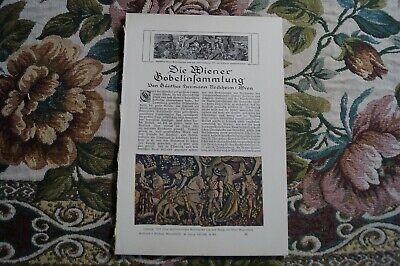 1921 Fachbericht Vh / Wien Gobelin Sammlung Wandteppiche Profitieren Sie Klein