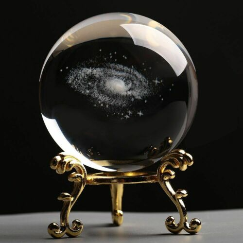Details about  /Crystal Ball Stars Solar System Miniature Laser 3D Tabletop Ornament Home Decors