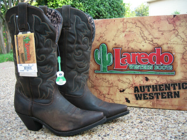 b779925d1cc NEW Ladies Laredo Access Tan Leather Wide Calf Western Cowboy Boots Style  51078