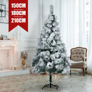 6ft Artificial Christmas Tree with Snow White Stand Holiday Home Decoration
