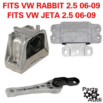 VW RABBIT, JETTA w 2.5 ENGINE TRANSMISSION MOUNT SET KIT 2.5L engines | eBayeBay