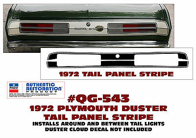 QG-543 1972 PLYMOUTH DUSTER TAIL PANEL STRIPE KIT