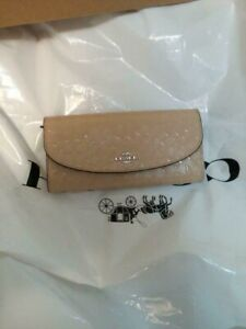 AUTHENTIC-COACH-BEIGE-BROWN-LEATHER-Wallet