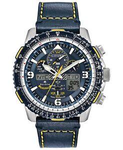 Citizen-Men-039-s-Promaster-Blue-Angels-Skyhawk-A-T-Leather-Strap-Watch-JY8078-01L