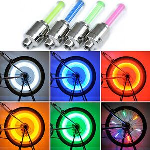 4-LED-NEON-VALVE-DUST-CAP-LIGHT-CAR-VAN-BIKE-BMX-WHEEL-TYRE-SPOKE-SAFETY-LAMP