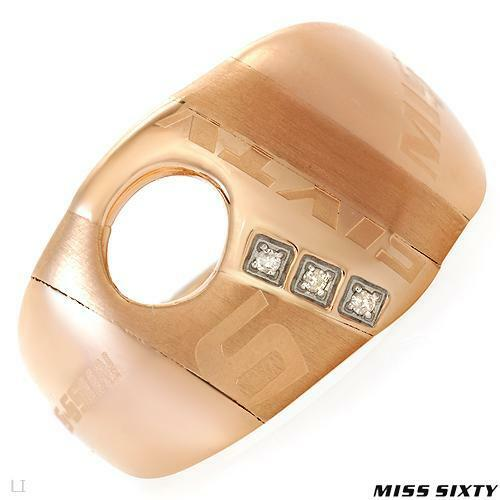 MISS SIXTY RING ROSE GOLD DIMONDS $189