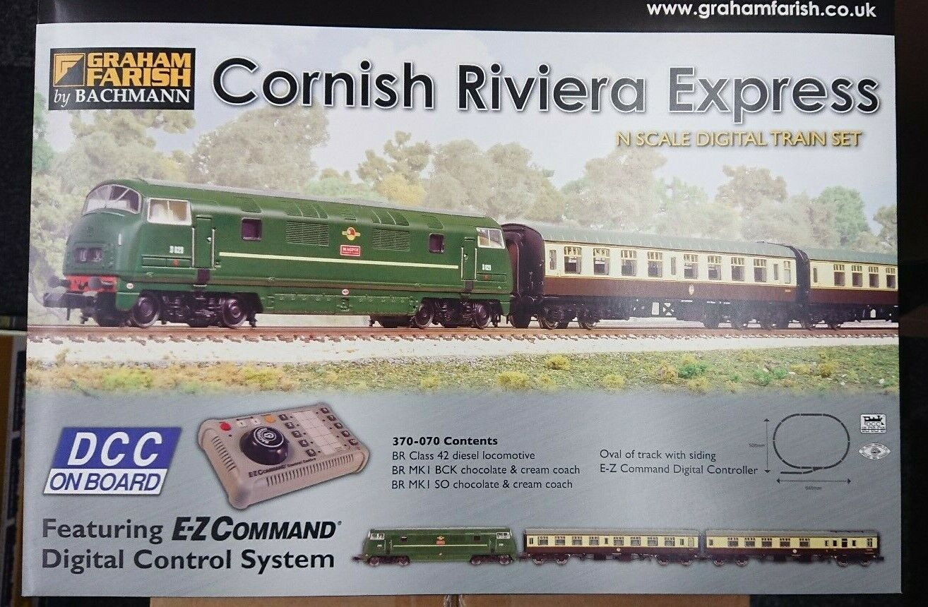 Graham Farish 370070 Cornish Riviera Express N Gauge Digital Train Set nuovo
