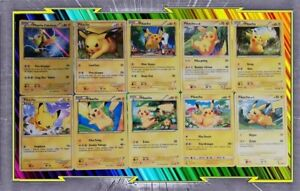 Lot-de-10-cartes-Pikachu-differentes-Francaises-Neuves-Pokemon-C