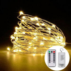 100//200LED Waterfall tree Vine Lamp Fairy String Copper Wire Lights Xmas Decor