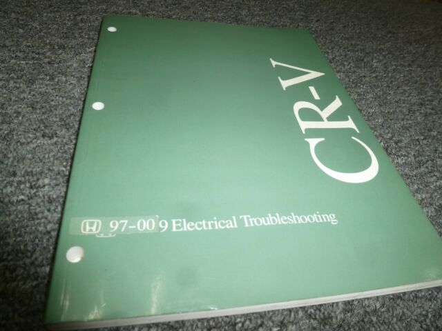 1997-2000 Honda CR-V Electrical Wiring Diagrams Manual LX ...