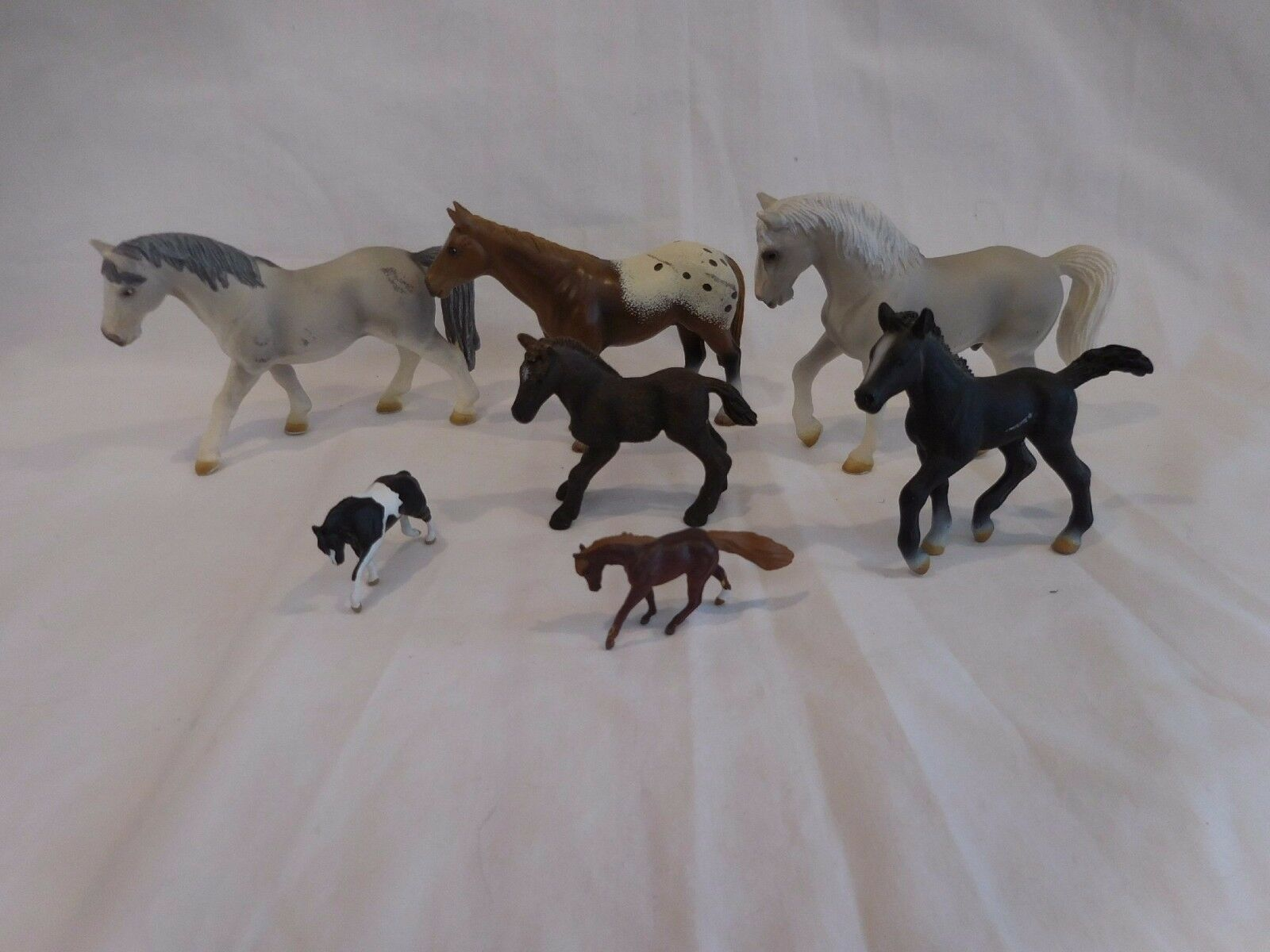 Schleich Horse collection of 7 horses Schleich Germany  Rubber Horse & babies