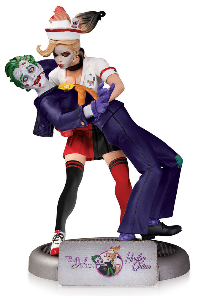 DC Comics Bombshells Bombshells Bombshells statue The Joker & Harley Quinn 2nd Ed DC Collectibles bc40a9
