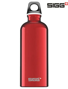 SIGG-Flasche-Trinkflasche-0-6-l-Rot-Fahrrad-Sport-Reise-Camping-Traveller-Red