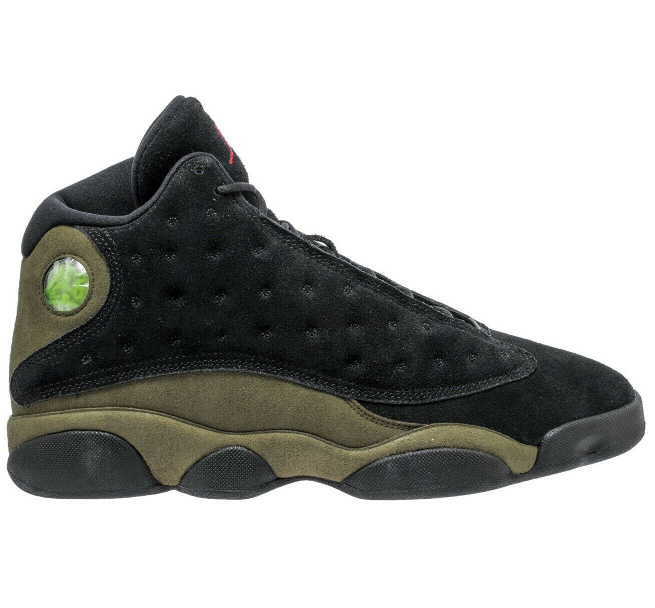 Air Jordan 13 XIII Retro Olive Mens 414571-006 Black Gym Red Shoes Size 8.5