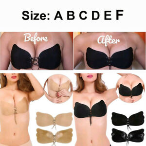 3a2f936035b Women Extra Large E F Cup 3D Silicone Adhesive Bra Push Up Backless ...