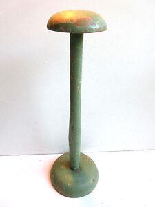 Ancien-porte-chapeau-XIXeme-bois-tourne-peint-vert-style-Napoleon-III