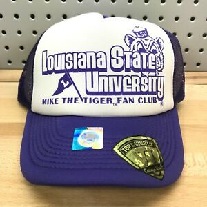 Louisiana State University LSU Tigers NCAA Vault TOW Foam Trucker Hat NWT Cap