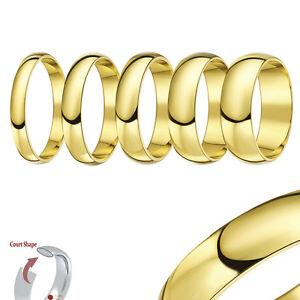 9ct GIALLO ANELLO ORO CORTE a forma di matrimonio R-Z (massiccio e marchiato)