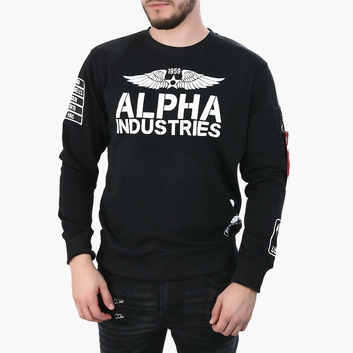 HERREN SWEATSHIRT Turnschuhe ALPHA INDUSTRIES REBEL