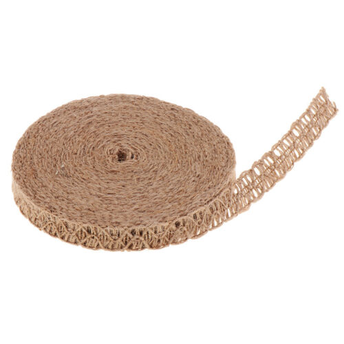 11yd Natural Burlap Lace Ribbon for Straw Hat Sewing Weaving Crafts Projects