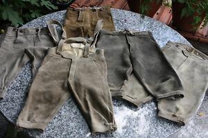 5-Stueck-echte-Hirschlederhosen-als-Kniebund-in-Kinder-oder-Jugendgroesse