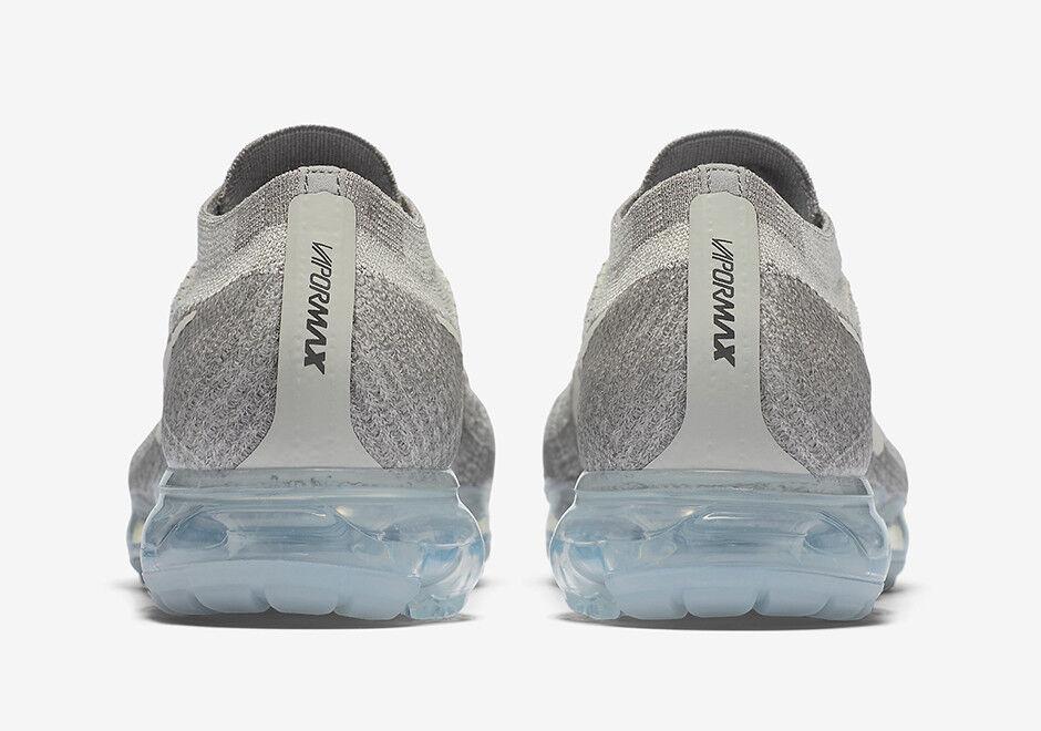 Nike Air Vapormax Flyknit Pale Grey Grey Grey Black Sail White Running Men's 849558-005 29f91e