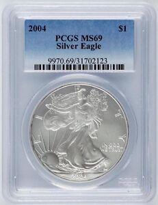 2004-1-oz-United-States-Silver-American-Eagle-One-Dollar-1-PCGS-MS-69