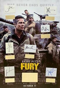 FURY, BRAD PITT, DAVID AYER FILM  hand signed frame