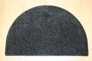 Black Half Moon Rug 77cm X 50cm Glitter Front Back Door