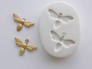 Bees Polymer Clay Mold 2 in One Mold (#MD1007)