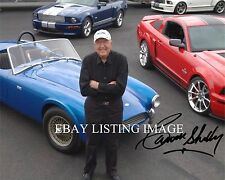 CARROLL SHELBY WITH MUSTANG COBRA SIGNED AUTOGRAPH 8x10 RP PHOTO