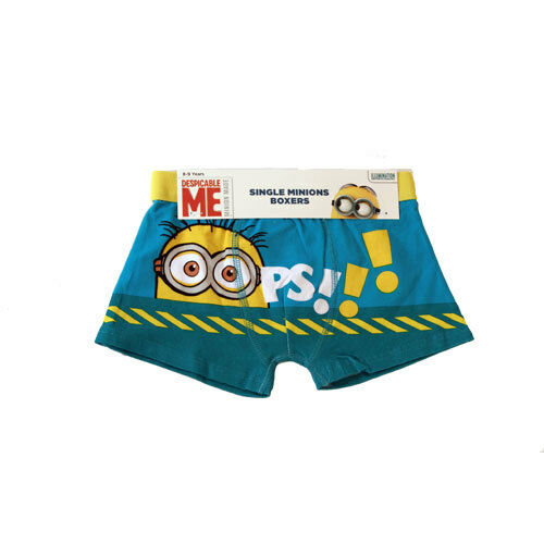 """Boys Despicable Me Minion Boxer Shorts /""""OOPS!/"""" 1 Brief NEW Sizes 2-9yrs Free P/&P"""