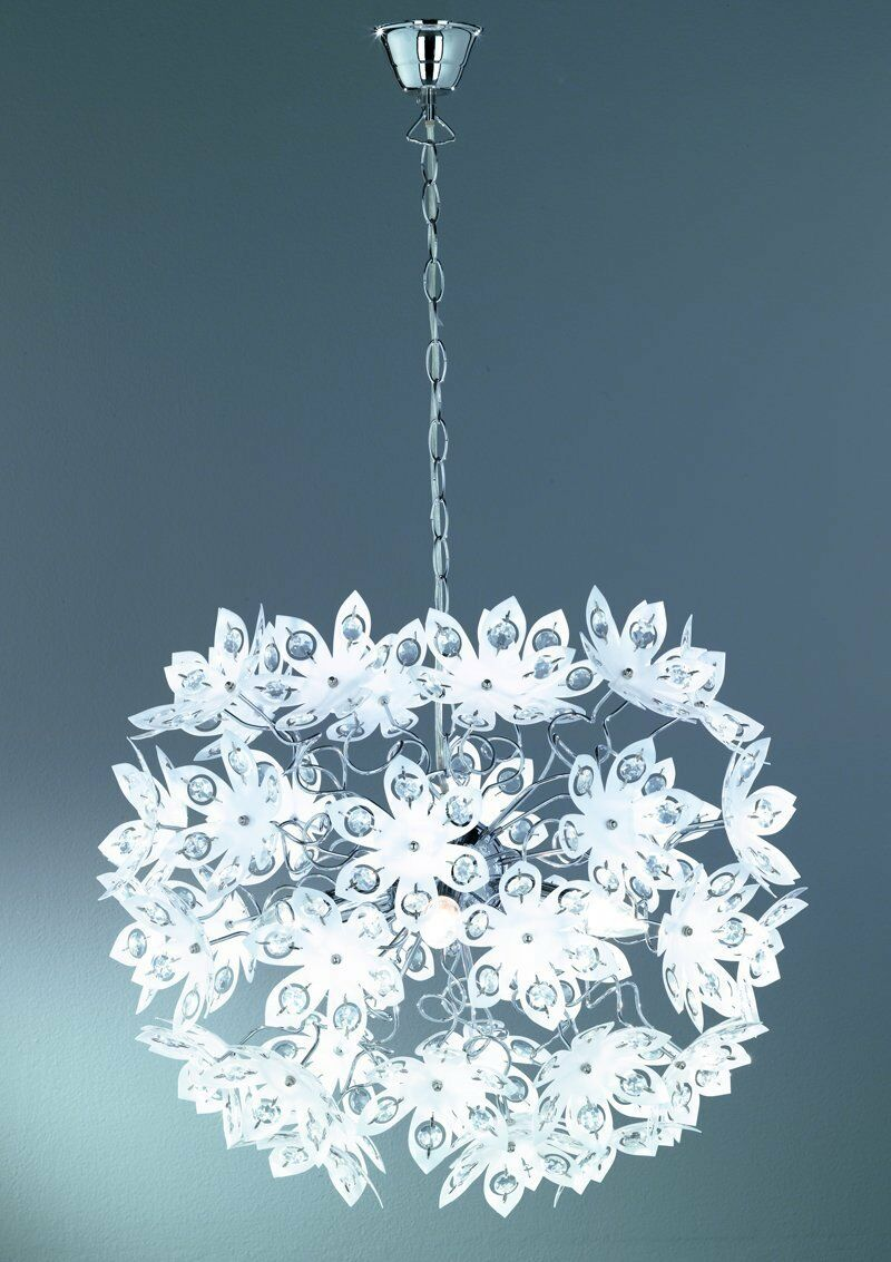 Blüten Pendelleuchte   LED möglich   TOP Design   weiß