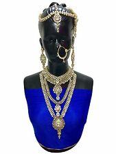 Indian Bollywood Style Full Wedding Fashion Bridal Gold Plated 8 PCS Jewelry Set