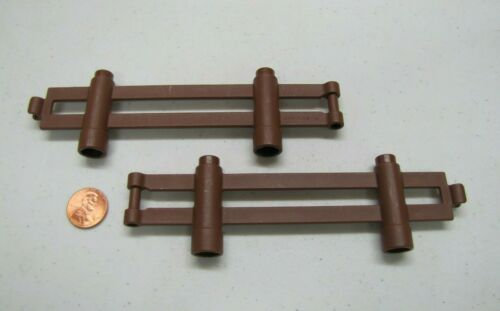 Lego Duplo Lot of 2 BROWN FENCE RAIL SECTIONS FENCING Zoo Farm House Part