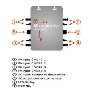 Modest 1200w Grid Tie Micro Inverter,mppt Pure Sine Wave Dc 22-50v Ip65 Alternative & Solar Energy Electrical & Solar