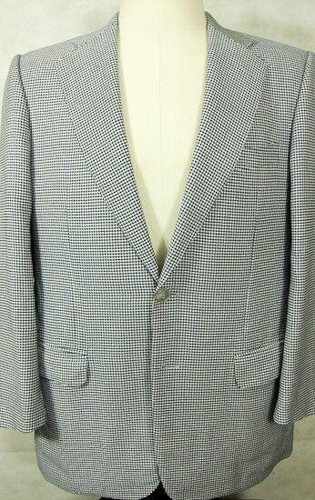 Wunderschön Ermenegildo Zegna Blau & Weiß Hundezahn Wolle Sport Mantel Italien