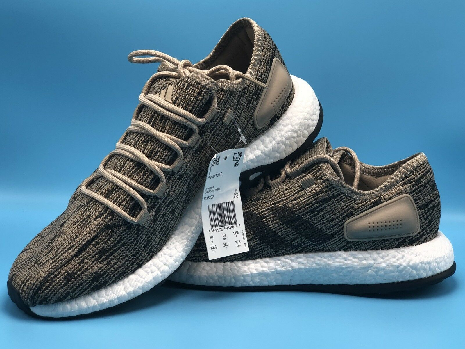 adidas sehr pureboost dpr größe 10 1 / 2 laufschuhe sehr adidas wohl spuren khaki - bada41