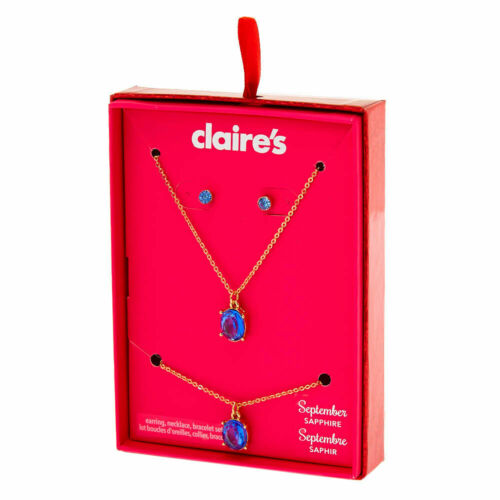 Sapphire 3 Pack Blue Claire/'s September Birthstone Jewellery Gift Set