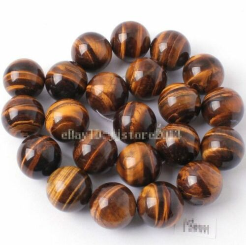 "AAA 100/% Naturel 16 MM 18 mm 20 mm JAUNE ROUGE tiger/'s eye stone Gemstone Bead 15/"""