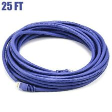 25FT Cat6 RJ45 Ethernet LAN Network UTP Patch Cable 550MHz Copper Wire Purple