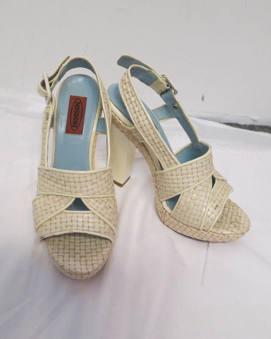 Missoni hueso armadura de cesta cesta cesta tejida Tacones Zapatos Talla 8  buen precio
