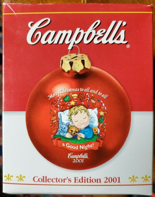 2001 CAMPBELL'S Soup Collectors Edition Christmas Ornament ...
