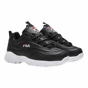 New-Fila-Women-039-s-Disarray-Black-Leather-Synthetic-Sneakers-Shoes-PICK-SIZE