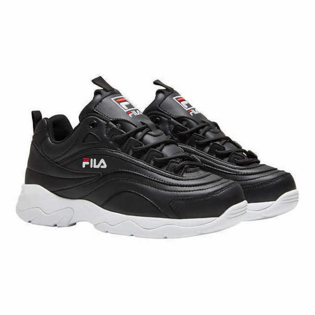 New Fila Women's Disarray Black Leather Synthetic Sneakers Shoes PICK SIZE