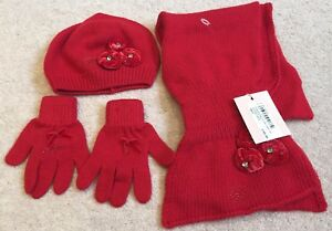 Image is loading Girls-Designer-Hat-Scarf-Gloves-Set-Blumarine-Baby- a10b9d6595b