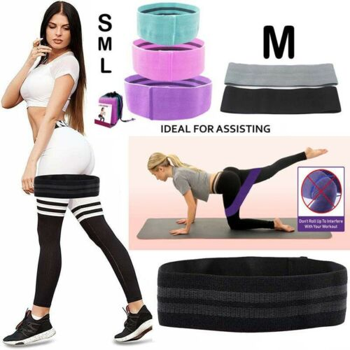 Resistance Bands Booty Fabric Glute Hip Circle Leg Squat Exercise Yoga Non Slip